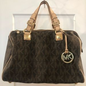 Authentic Michael Kors Large Grayson Signature Bag